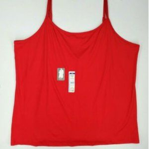 Terra & Sky Womens Plus Long Cami Top size 5X Red
